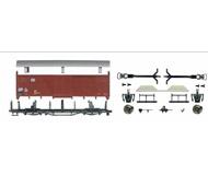 модель Roco 66392 KIT (комплект для сборки) крытого  двухосного товарного вагона с тормозной площадкой