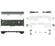 модель Roco 66647 Набор для сборки вагона-кабуза. Принадлежность Германия, DR. Эпоха III. Длинна 115 мм.