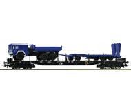 модель Roco 67552 Платформа с автомобилем MAN и прицепом. Принадлежность Германия, DB AG