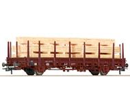 модель Roco 67698 Rungenwagen+Holzstapel. Принадлежность DB, Германия.