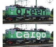 модель Roco 73456 Набор из двух электровозов Rc4  Cargo SJ. Принадлежность Швеция, SJ. Эпоха VI. Длинна 358 мм.
