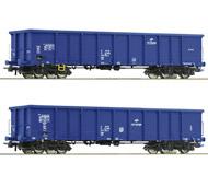 модель Roco 76044 Set offene Güterwagen Bauart Eanos 2-teilig. Принадлежность PKP, Польша. Cargo. Эпоха VI.