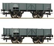 модель Roco 76048 Set offene Güterwagen 2-teilig der K.K.St.B. Эпоха I.