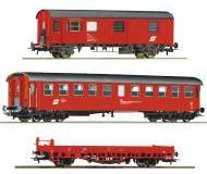 модель Roco 76050 Set Hilfszug 3-teilig. Принадлежность ÖBB, Австрия. Эпоха V.