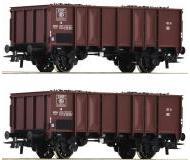 модель Roco 76061 Set offene Güterwagen GTOW 2-teilig. Принадлежность SNCB, Бельгия. Эпоха IV, mit Kohlebeladung.