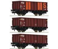 модель Roco 76062 Set offene Güterwagen GTOW 3-teilig. Принадлежность NS, Нидерландия. Эпоха IV.