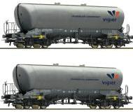модель Roco 76084 Набор из двух пылеосиловых вагонов, тип Uacns, Vigier Cement