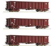 модель Roco 76091 Set offene Güterwagen Eanos 3-teilig . Принадлежность HZ Cargo.