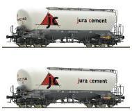 модель Roco 76146 Набор из двух цистерн для перевозки пыли(силовагон), тип Uacns для jura cement