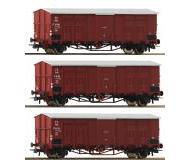 модель Roco 76163 Набор из 3 грузовых вагонов Gruppe FF