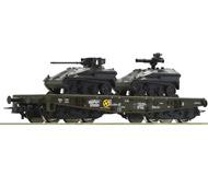 модель Roco 76395 Schwerlastw.+2 kl.Panzer. Принадлежность DB AG, Германия.
