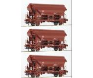 модель Roco 76575 Set Schwenkdachwagen 2-achs. 3-teilig. Принадлежность DB AG, Германия. Эпоха V.