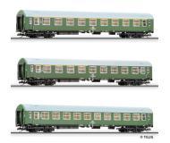 модель Tillig 01570 Набор из трёх пассажирских вагонов, тип C4 pr-04, 1 класса, 1/2 класса и 2 класса. Принадлежность DR. Эпоха IV