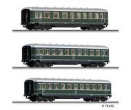 модель Tillig 01594 Набор из трёх пассажирских вагонов(вагон 1/2 класса, два вагона 3 класса). Принадлежность DRG. Эпоха II