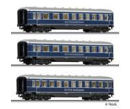 модель Tillig 01595 Набор из трёх пассажирских вагонов. Принадлежность DB. Эпоха III