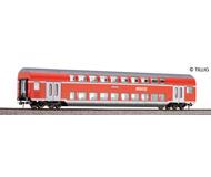 модель Tillig 73801 Двухэтажный вагон 1/2 класса, тип DABz 756 REGIO. Принадлежность DB AG. Эпоха VI