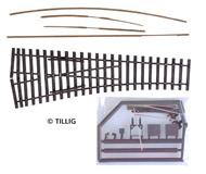 модель Tillig 85422 Стрелка EW2 левая, 15 градусов, Набор для самостоятельной сборки.