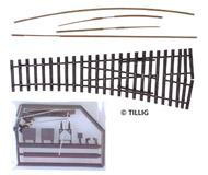 модель Tillig 85423 Стрелка EW2 правая, 15 градусов, Набор для самостоятельной сборки.