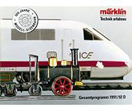 модель Horston 10135-54 Каталог Marklin 1991/92 год. Масштабы H0, N, Z, 1. 336 стр, на немецком языке.