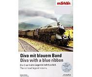 модель Железнодорожные модели 10151-54 Marklin. Миникаталог-постер модели паровоза S 2/6, в масштабах H0, N на английском, немецком языках.