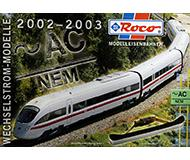 модель Железнодорожный Моделизм 10188-54 Каталог ROCO моделей переменного тока. Новинки 2002/03 года. 12 стр, на немецком языке.