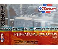 модель Железнодорожный Моделизм 10189-54 Каталог ROCO International. Новинки 2002 года. Масштаб H0. 20 стр, на английском, немецком, французском языках.