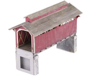 модель Железнодорожный Моделизм 11669-1 Крытый мост. Особенно популярны такие мосты в США. Новый, собран и окрашен специально для продажи. Крыша не приклеена для возможности установки освещения.