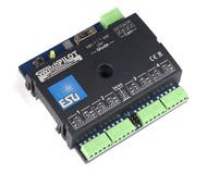 модель Железнодорожный Моделизм 13572-94 Комиссионная модель. ESU 51800. SwitchPilot V1.0 - мультипротокольный декодер, для управления 4 стрелками или до 8 аксессуарами типа расцепителей, выключателей уличного освещения, освещения внутри домов и т.п., 1A. Для систем постоянного (DC) и переменного (AC) тока. Может быть подключен к цифровым станциям ESU ECoS, IB, Marklin CS и др, В штатной коробке. Был установлен на макет, проверен, снят и убран обратно в коробку. Причина продажи - остались лишние после завершения работы над макетом. Фотография выполнена с продаваемой модели.