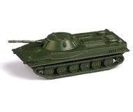 модель Horston 13962-90 Комиссионная модель. Серия бронетехники Советской Армии и армий Варшавского Договора. Плавающий танк ПТ-76. Модель выполнена из металла. Сделано в ГДР. В родной коробке. Фотография выполнена с продаваемой модели.