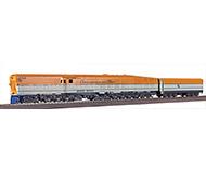 модель Железнодорожный Моделизм 15000-95 Steam Turbin Chesapeake & Ohio. Производство Orion Models, Япония. Номер по каталогу Orion Models DE-129. В родной коробке. Нет ложемента. Движение ровное, уверенное. Дополнительные фото по запросу.