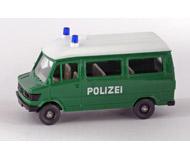 модель Железнодорожный Моделизм 15536-54 Полицейский микроавтобус Mercedes Benz 207 D. Производство Wiking. Артикул по каталогу Wiking 108 16. Состояние новой модели, коробочного хранения. В родной упаковке. Фотография выполнена с продаваемой модели.
