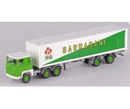 модель Железнодорожные модели 15634-54 Тягач Scania с полуприцепом Цирк Sarrasani. Производство Wiking. Артикул по каталогу Wiking 25 520 4. Состояние новой модели, коробочного хранения. В родной упаковке. Фотография выполнена с продаваемой модели.