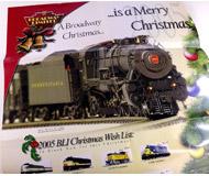 модель Железнодорожные модели 16317-85 Комиссионная модель. Рождественский постер-каталог Broadway Limited за 2005 год. Каталог размещен с обратной стороны постера. На английском языке.