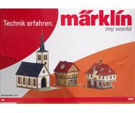 модель Железнодорожные модели 17072-54 Комиссионная модель. Набор для сборки трех зданий - церковь и два здания. Новый, запечатан, в родной коробке. Производство Märklin, артикул 72785. Фотография выполнена с коробки продаваемой модели.
