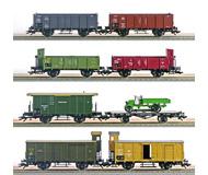 модель Железнодорожный Моделизм 17086-54 Комиссионная модель. Набор товарный поезд дороги Deutscher Staatbahn Wagenverband, 8 вагонов и старинный автомобиль. 1910 год Производство Märklin. Артикул по каталогу Märklin 4789. В коробке.