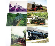 модель Железнодорожные модели 17475-54 Комиссионная модель. Почтовые карточки (открытки) на жд тематику. Чистые. 6 шт. Цена за все.