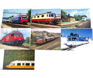 модель Железнодорожные модели 17476-54 Комиссионная модель. Почтовые карточки (открытки) на жд тематику. Чистые. 7 шт. Цена за все.