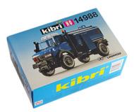 модель Железнодорожный Моделизм 18224-1 Unimog-цистерна, набор для сборки. Производство KIBRI, артикул по каталогу KIBRI 14988. Новый, запечатан.