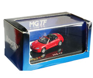 модель Железнодорожный Моделизм 18229-1 MG TF Roadster, 2007г., красный. Модель великолепного качества с интерьером, хромовыми деталями и отлично выполненными мелкими надписями и т. п. Поставляется в прозрачном пластиковом боксе. Производство RICKO, артикул по каталогу RICKO 38390. Новый.