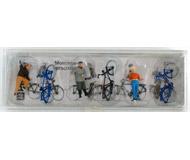 модель Железнодорожные модели 18275-1 Набор фигурок. Велосипедисты. Производство PREISER. Артикул по каталогу PREISER 10515. Новый комплект, в упаковке, не вскрывался.