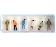 модель Железнодорожный Моделизм 18279-1 Набор фигурок. Молодёжь в теплой одежде, 6 шт. Производство PREISER. Артикул по каталогу PREISER 14005. Новый комплект, в упаковке, не вскрывался.