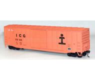 модель Железнодорожные модели 18301-1 50' товарный вагон. Комплект для сборки (KIT). Принадлежность Illinois Central Gulf #535535. На вагоне указана дата выпуска - 5. 1967 г. Длина модели без учета сцепок - 185 мм. В комплекте Kadee-совместимые сцепки Accurail. Комплект для сборки. Все детали качественно окрашены, на вагон уже нанесены все необходимые надписи и знаки. На фото из каталога – собранный вагон. Производство ACCURAIL. Артикул по каталогу ACCURAIL 5649. Фото из каталога. Новый комплект, в упаковке, не вскрывался.
