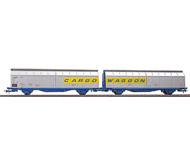 модель Железнодорожные модели 18318-1 Два вагона с раздвижными дверями, тип Himrrs. Принадлежность DB Германия. Эпоха IV. Производство ROCO. Артикул по каталогу ROCO 66573. Новые, в коробке.