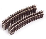 модель Железнодорожный Моделизм 18332-1 Рельсы стандартные радиальные для узкоколейки, масштаб HOe. 13 штук. Производство ROCO. Артикул по каталогу ROCO 32204. Новые.