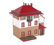 модель Horston 18405-2 Комиссионная модель. Пост централизации Neumuhle. Утеряна одна секция перил ограждения на крыше. Производство Auhagen, артикул Auhagen 11373.
