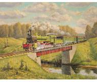 модель Железнодорожный Моделизм 18475-85 Репродукция картины на жд тематику. Размер 22х18