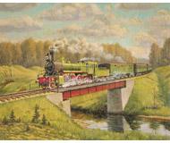 модель Железнодорожный Моделизм 18476-85 Репродукция картины на жд тематику. Размер 30х25