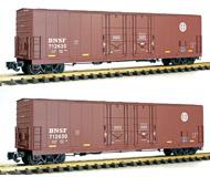 модель Железнодорожные модели 18794-16 Четырёхосный товарный вагон BNSF. Колея 45 мм (масштаб G). Производство Aristo-Craft Trains. Артикул по каталогу Aristo-Craft Trains ART50028P. В родной коробке.
