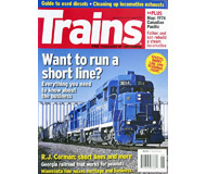 """модель Железнодорожный Моделизм 19576-85 Журнал """"TRAINS"""". Номер 6 / 2007. На английском языке."""