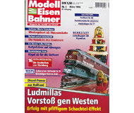 """модель Железнодорожный Моделизм 19690-85 Журнал """"Modell EisenBahner"""". Номер 3 / 1998. На немецком языке."""